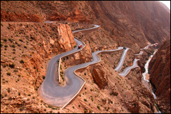 Riding the Dades Gorge