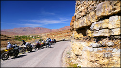 Motorcycles in the Atlas Mountains