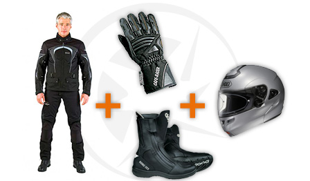 Rent your motorcycle gear in Spain