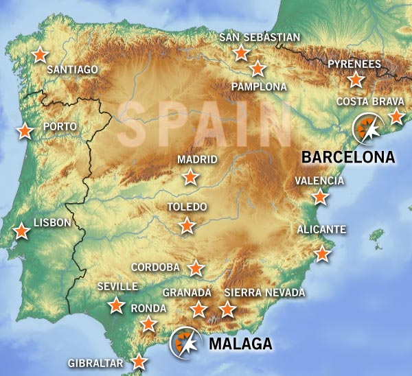 BMW Motorcycle rental in Malaga and Barcelona